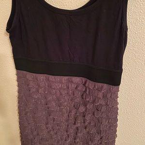 F21 ruffly mini dress